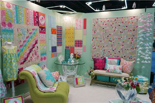 Many booths looked like super inviting living rooms. Don't you just want to sit down and relax?