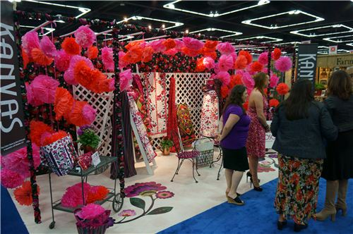 A very eye-catching designer booth