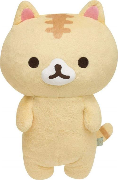 Big San-X cream Corocorocoronya cat plush toy