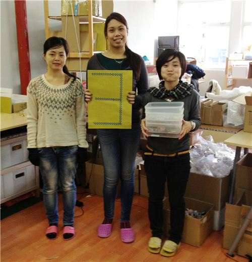 Our three packing ladies pick and wrap your orders