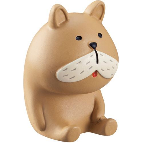 brown funny dog figurine from Decole Japan