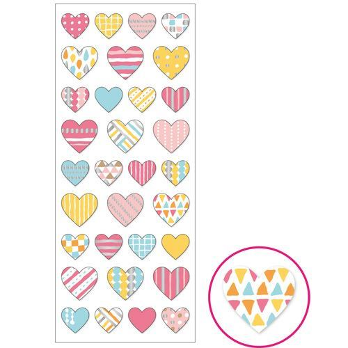 colorful heart with triangle circle pattern stickers by Mind Wave