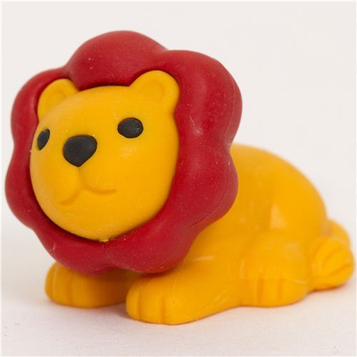 orange lion eraser by Iwako from Japan