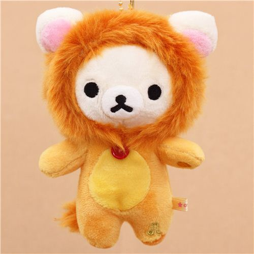 zodiac sign Rilakkuma white teddy bear as Leo plush toy charm