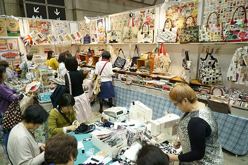 More bags were on display with some live sewing demonstrations taking place