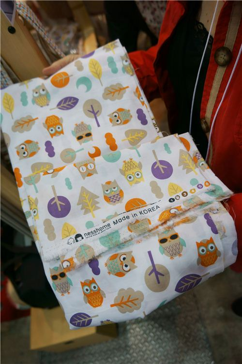 We discovered this adorable owl fabric