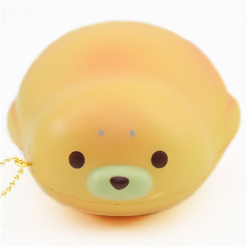 cute yellow-orange mochi seal animal scented squishy by Puni Maru
