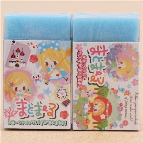 cute blue fairy mermaid fairy tale eraser from Japan