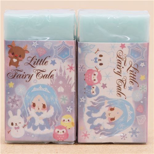 cute light blue ice queen fairy tale scented eraser from Japan