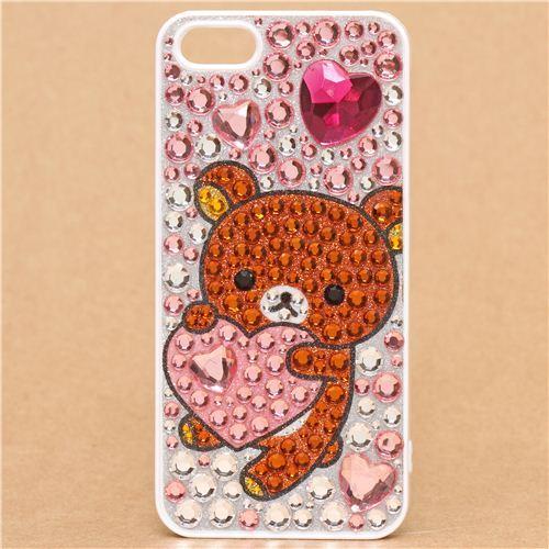 Rilakkuma rhinestone iPhone 5 hard cover case Deco Den