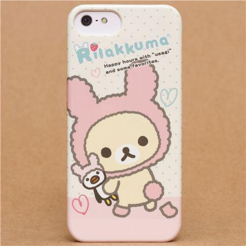 Rilakkuma white bear as bunny iPhone 5 hard cover case