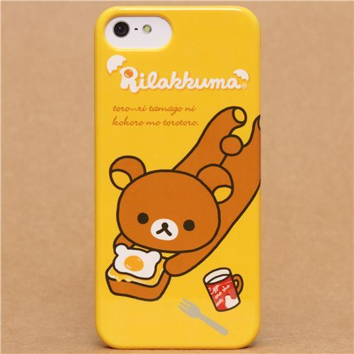 yellow Rilakkuma bear iPhone 5 hard cover case from Japan