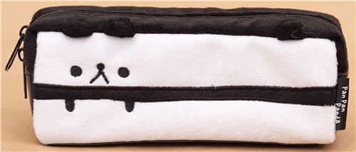black panda animal plush pencil case from Japan