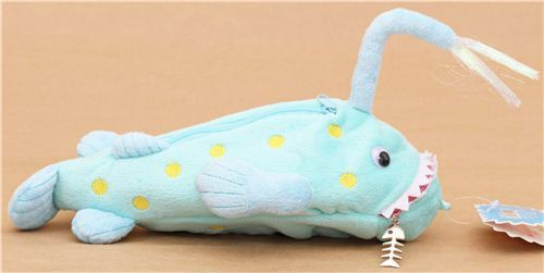 funny latern fish deep sea monster plush pencil case from Japan