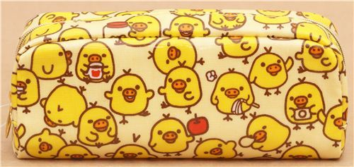 yellow Rilakkuma chick apple pencil case by San-X