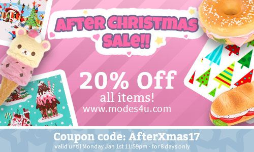 Last chance!! Get 20% off all items in our shop!