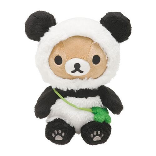 kawaii Rilakkuma brown teddy bear as panda plush toy