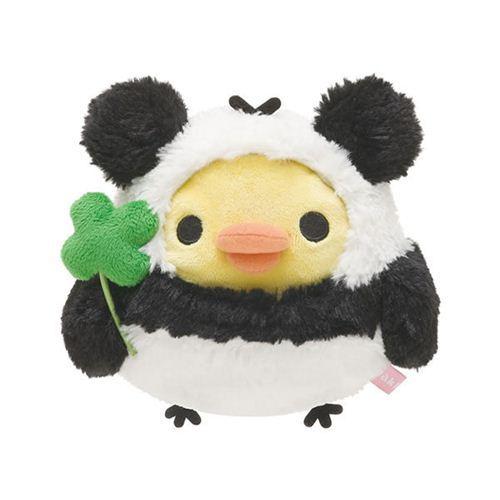kawaii Rilakkuma yellow chick as panda plush toy