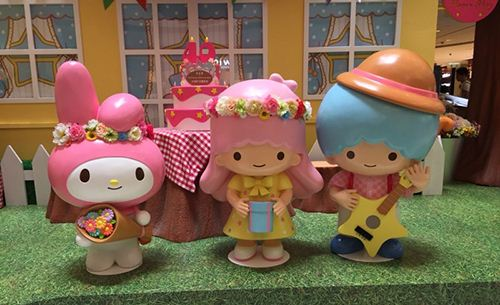 Little Twin Stars and My Melody celebrating their 40th Birthday.