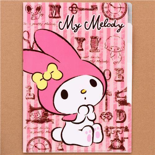My Melody bunny Vintage 5-pocket A4 file folder