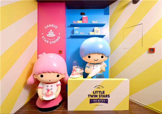 Little Twin Stars photo op in Langham Place, photo from Langham place
