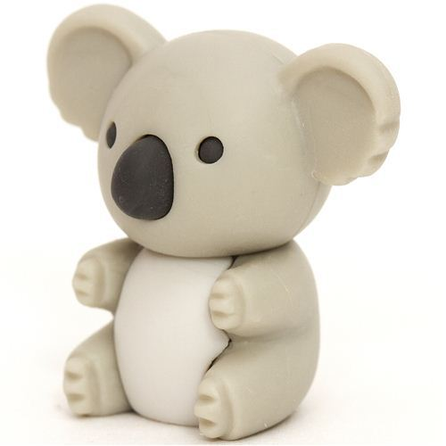 light grey koala bear eraser by Iwako from Japan