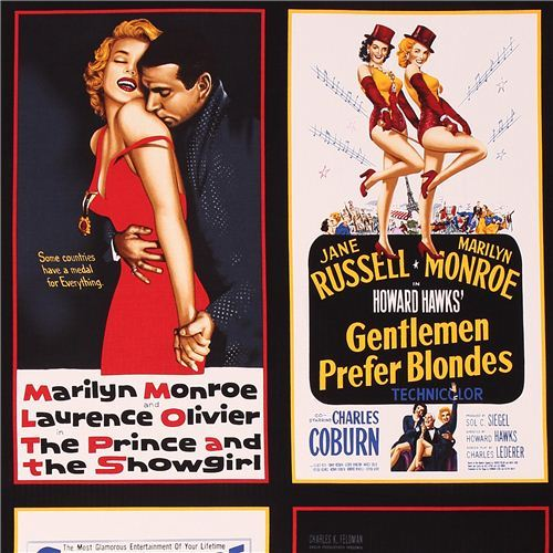 Marylin Monroe movie fabric Robert Kaufman Hollywood Icons