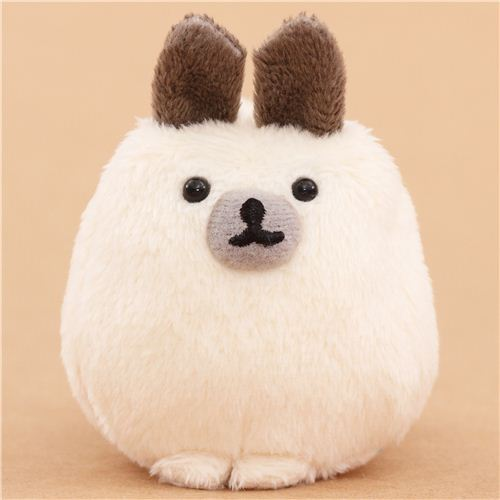 cream-grey Mofutans mochi rabbit plush toy by San-X from Japan