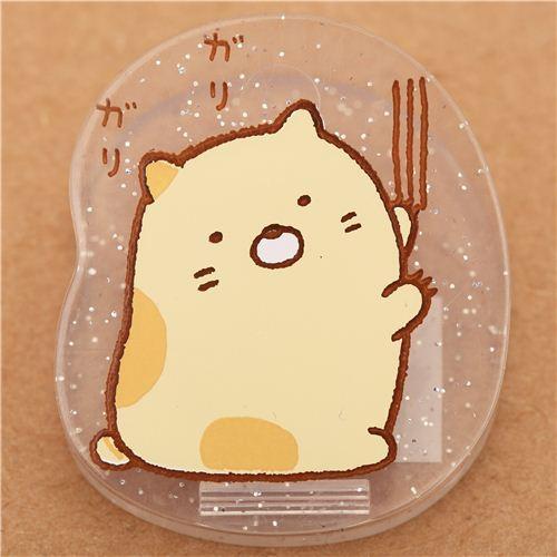 Sumikkogurashi glitter clip peg beige cat