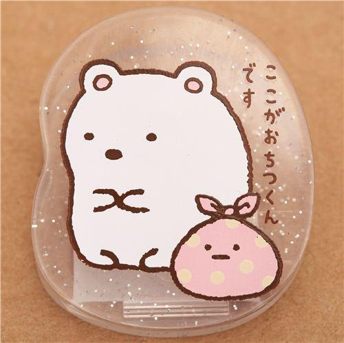 Sumikkogurashi glitter clip peg white polar bear