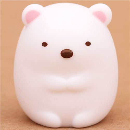 Sumikkogurashi polar bear figurine finger puppet from Japan