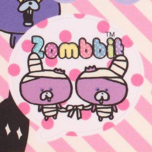 black Zombbit zombie rabbit Nonbi Note Pad sticker