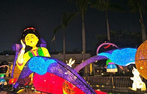 Colorful oriental lanterns in Hong Kong.