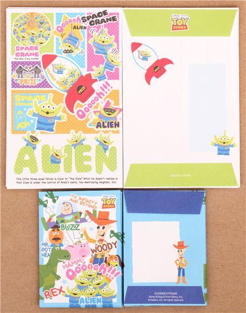 Disney Toy Story Woody Buzz mini Letter Set Japan