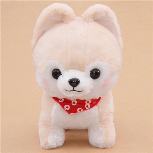 big cream white Mameshiba San Kyodai plush toy from Japan