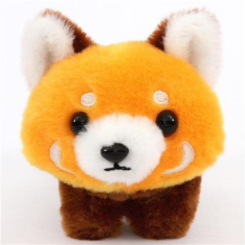 cute orange Red-Panda eyes open plush toy Lesser Panda Chan from Japan