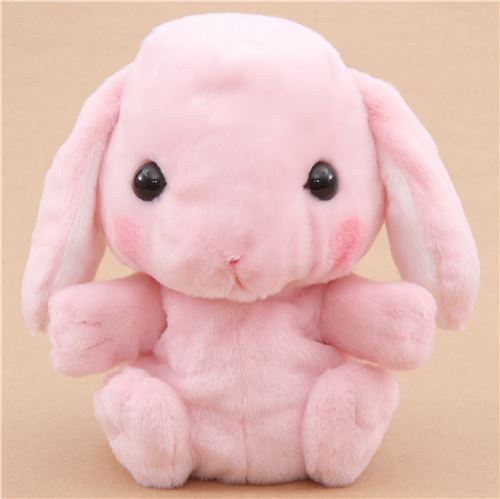 pink rabbit hand puppet Poteusa Loppy Shiloppy plush toy from Japan