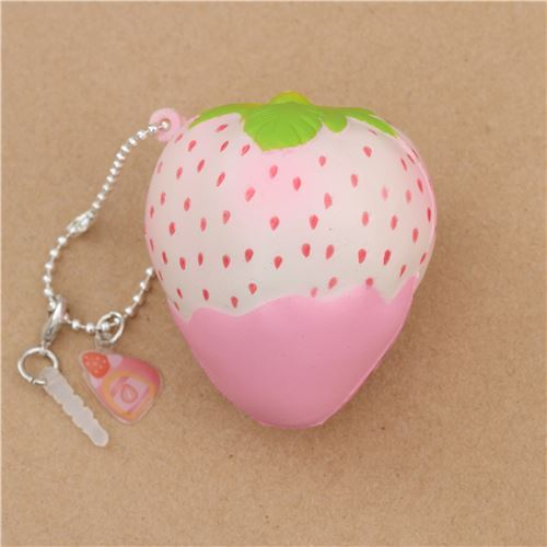 Mini Cheeki Strawberry Rare Pineberry pink sauce scented squishy by Puni Maru