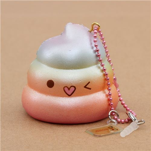 scented rainbow Mini Crazy Poo squishy by Puni Maru