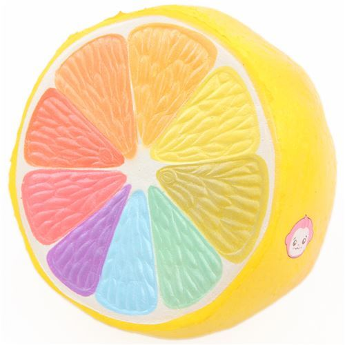 scented Cheeki jumbo rainbow lemon squishy by Puni Maru