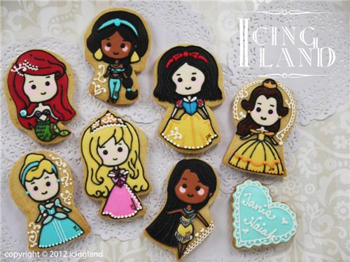 Super pretty Disney princess cookies