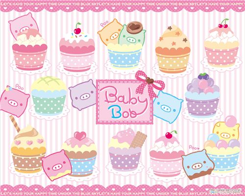 Baby Boo wallpaper with cupcakes