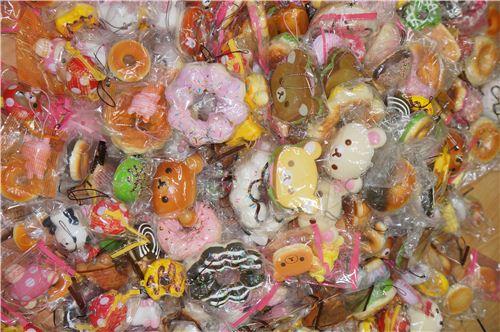 many doughnut and Rilakkuma squishies