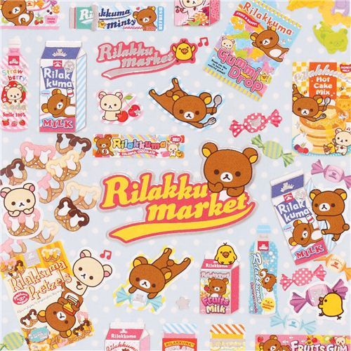Rilakkumarket Rilakkuma bear supermarket sweets stickers San-X