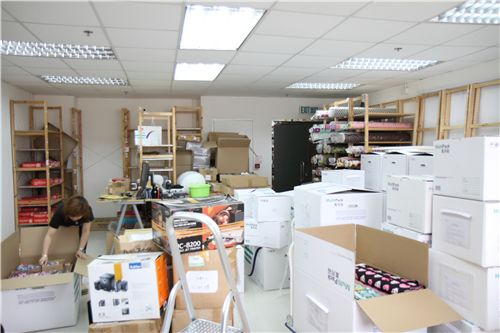 we packed most products in big boxes from the Hong Kong Post