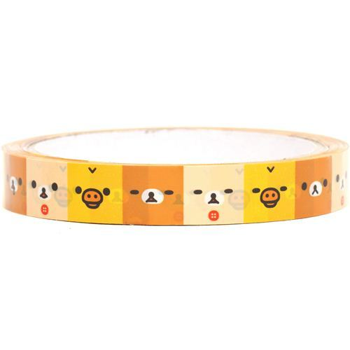 Rilakkuma bear & chick faces Deco Scotch Tape