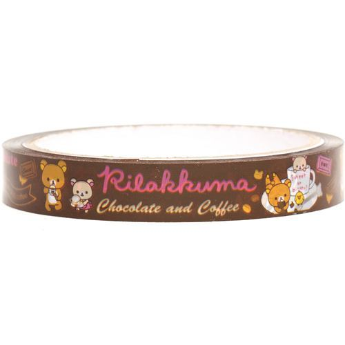 Rilakkuma bear Deco Scotch Tape chocolate coffee