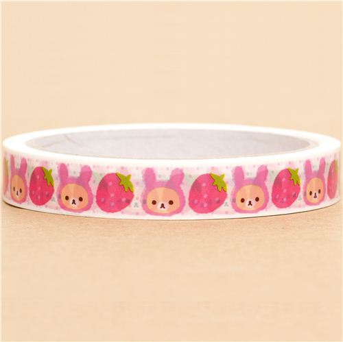 Rilakkuma bear Deco Scotch Tape strawberry rabbit