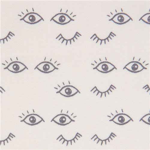 light cream fabric with eye by Art Gallery Fabrics