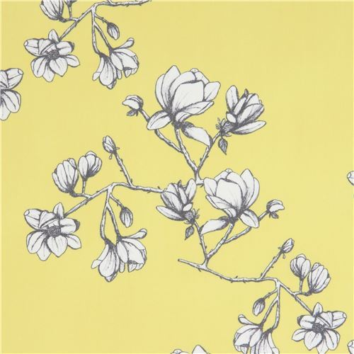 light lime green fabric with flower by Art Gallery Fabrics